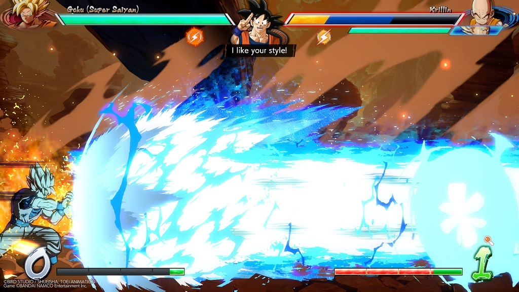 Dragon Ball FighterZ; Gameplay: super útok