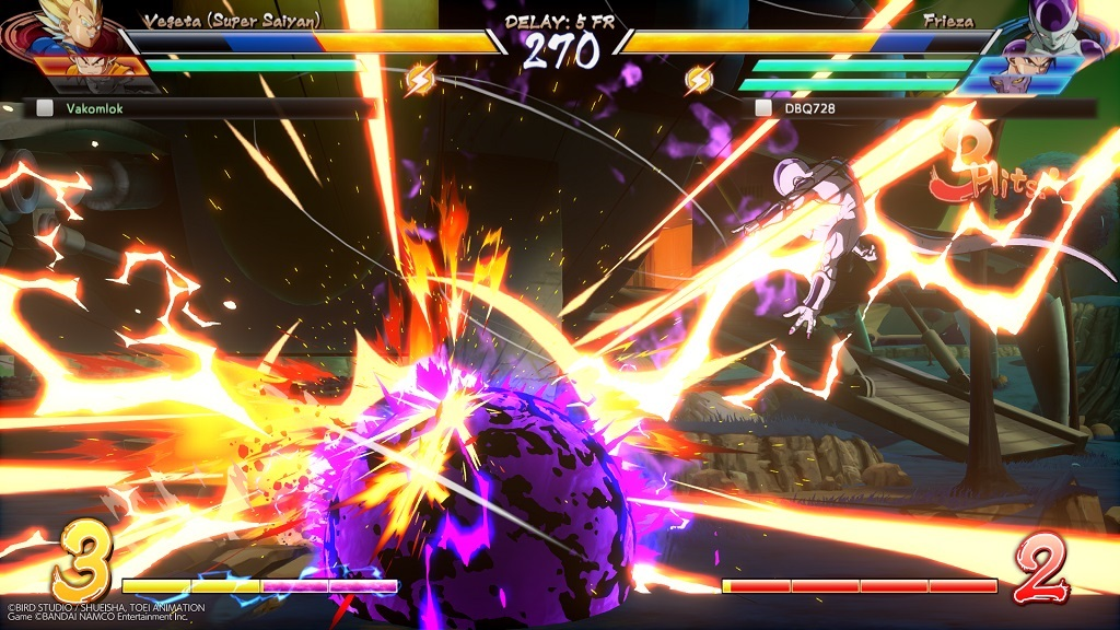 Dragon Ball FighterZ; Gameplay: online, super útok