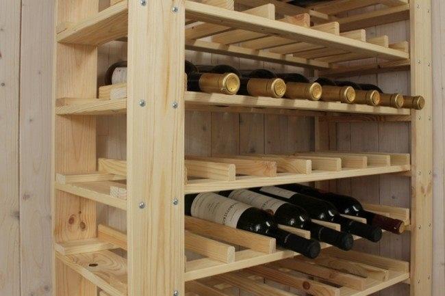 Dřevěné regál na víno