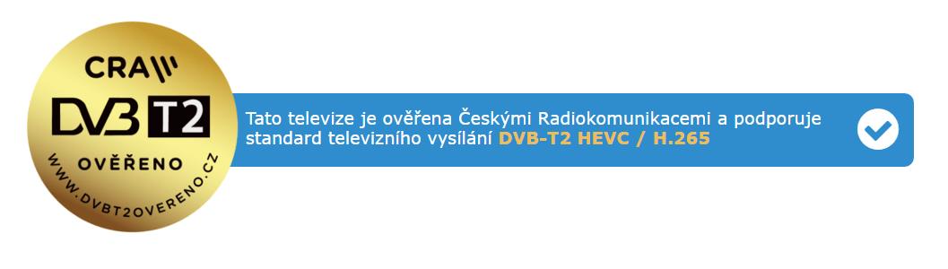 Logo DVB-T2 ověřeno
