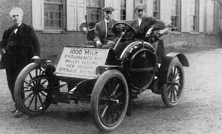První elektromobil