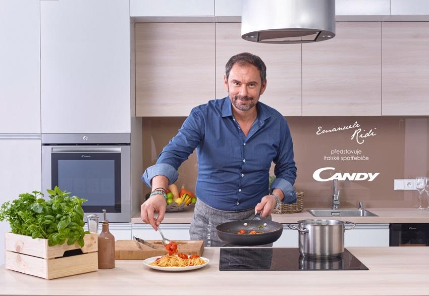 Emanuele Ridi doporučuje spotřebiče Candy