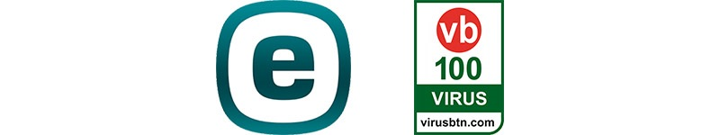 eset logo, virus bulletin VB100