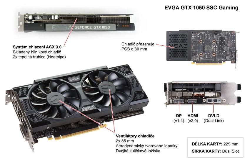 EVGA GTX 1050 SSC Gaming popis