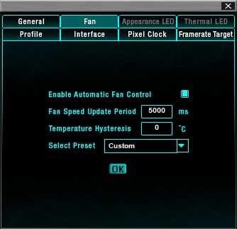 EVGA Precision XOC; nastavení