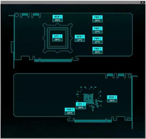EVGA Precision XOC senzory iCX