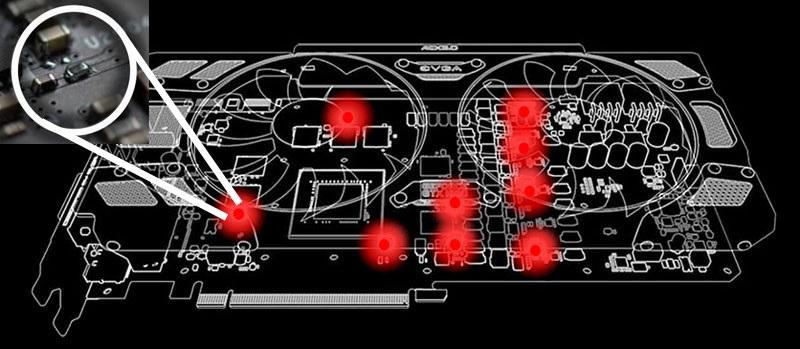 EVGA iCX teplotní senzory