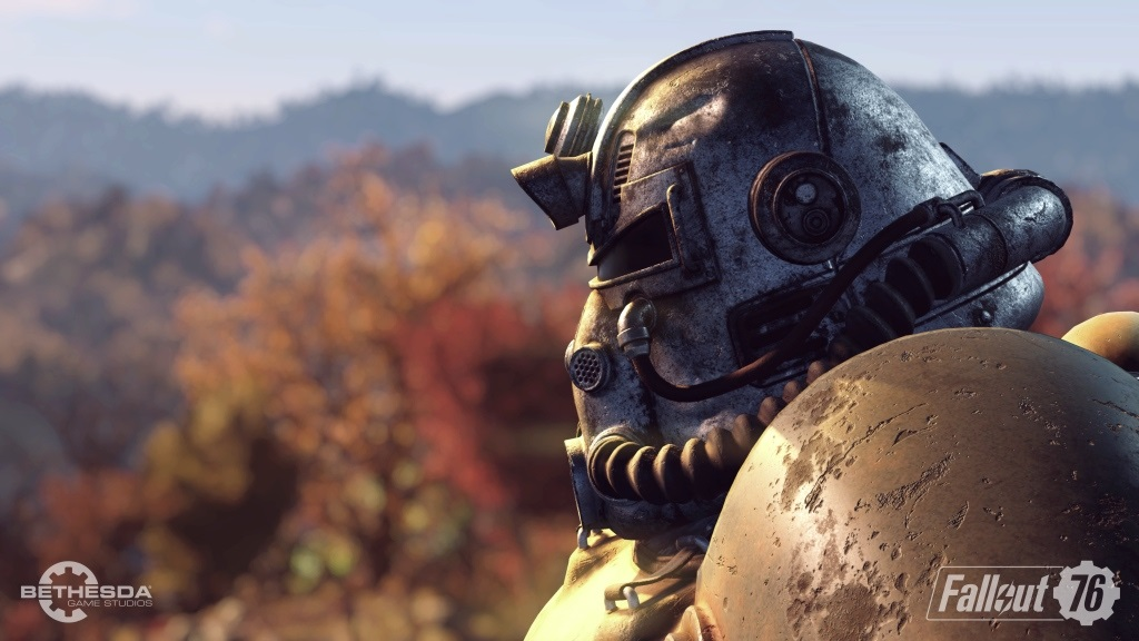 Nejočekávanější hry v listopad 2018; Fallout 76, screenshot: helma