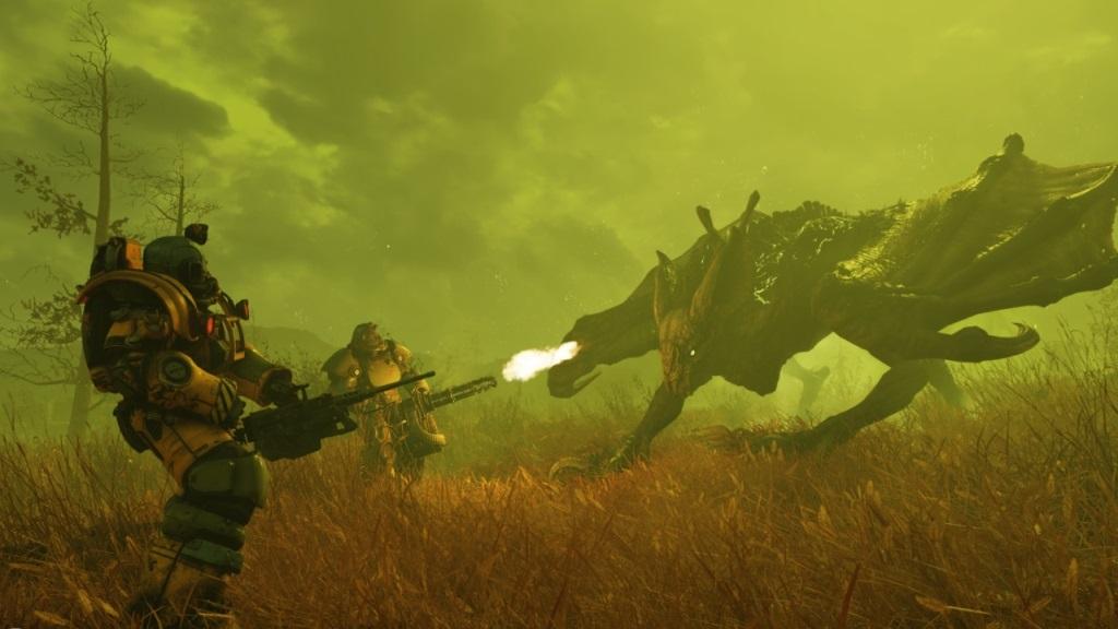 Nejočekávanější hry v listopad 2018; Fallout 76, screenshot: monstrum