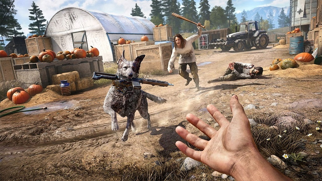 Far Cry 5; dog to the rescue