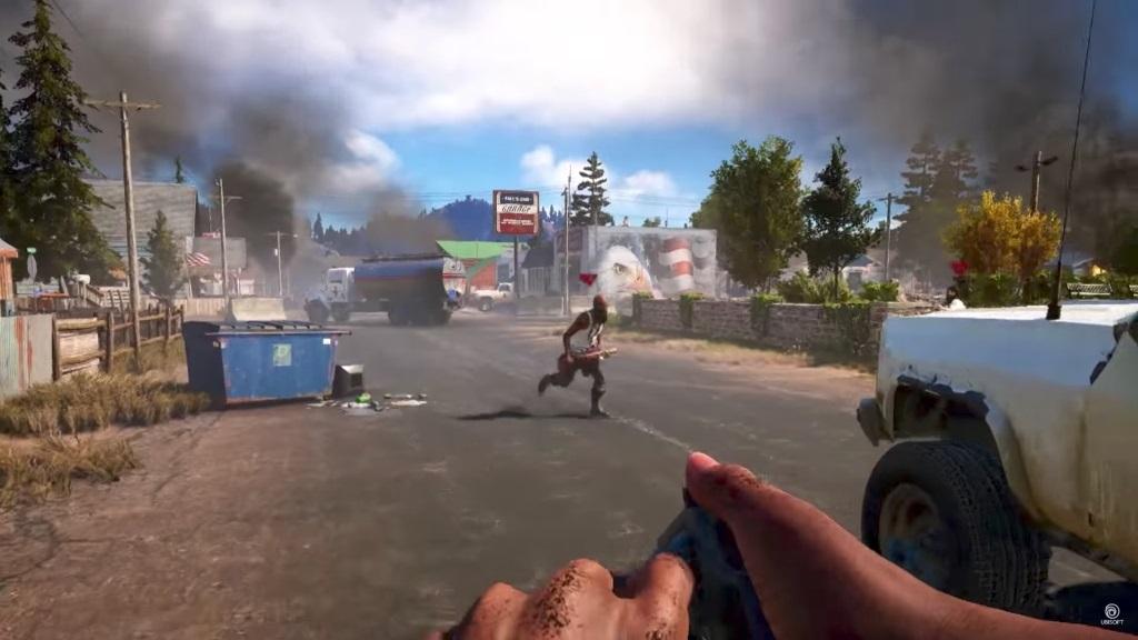 Far Cry 5; Gameplay: házení granátu