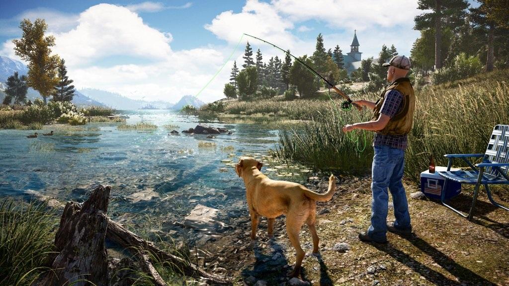 Far Cry 5; Wallpaper: rybaření, jezero