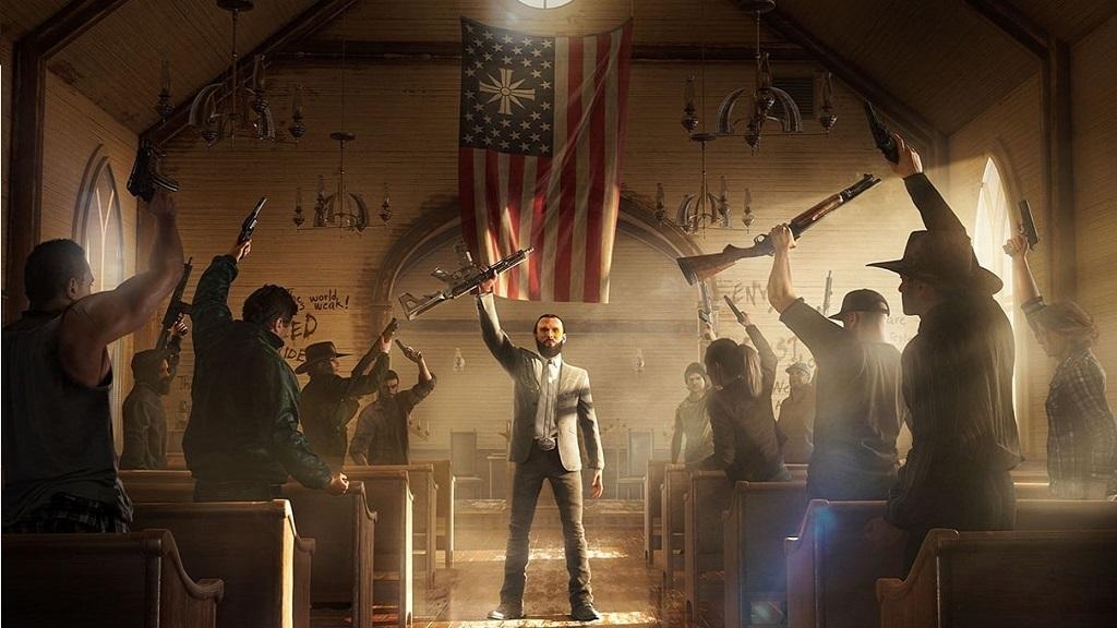 Far Cry 5; Joseph, kostel, Eden's Gate