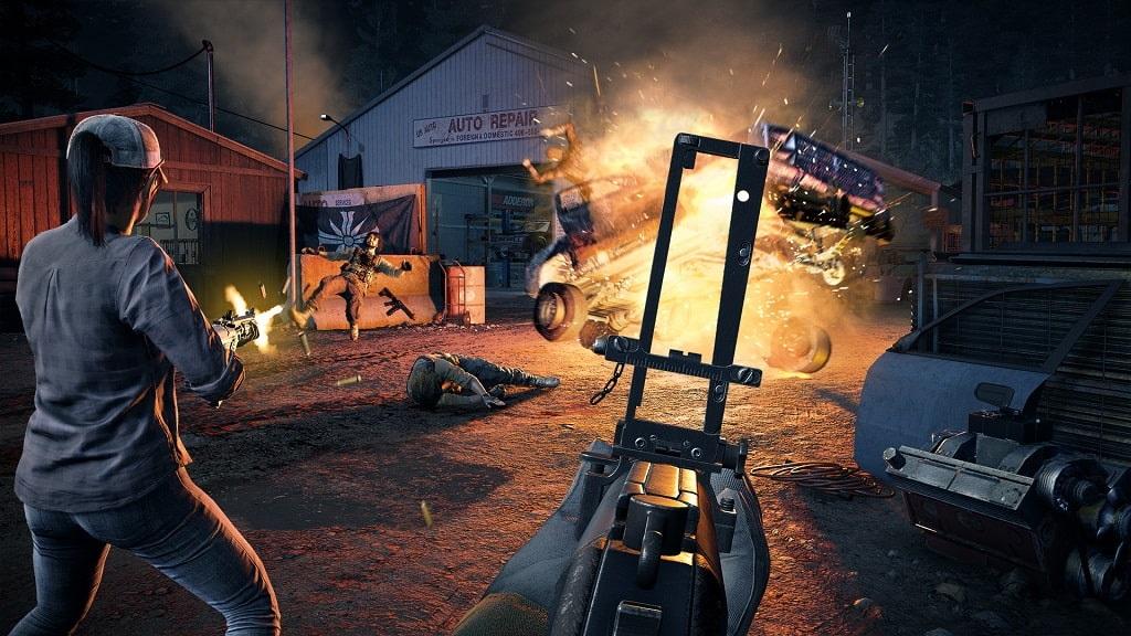 Far Cry 5, kooperace, střelba