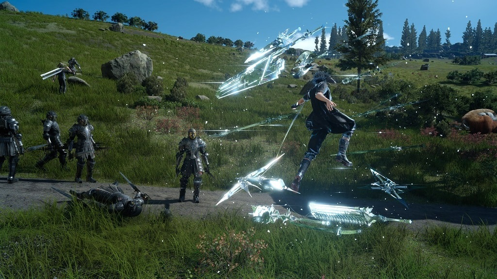 Final Fantasy XV PC; grafika, bitva