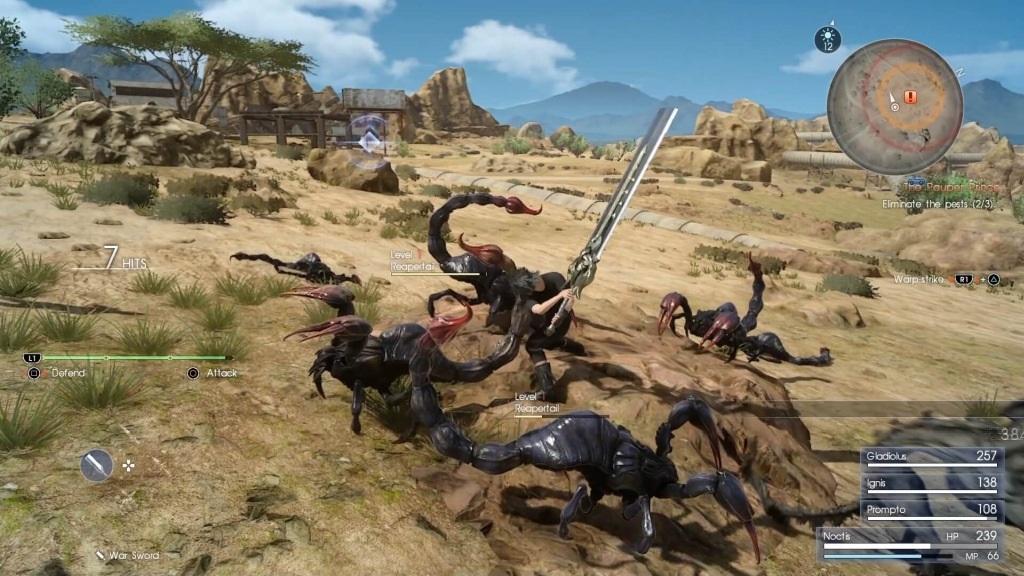 Nejlepší hry; Final Fantasy XV; Gameplay: souboj, přesila, poušť