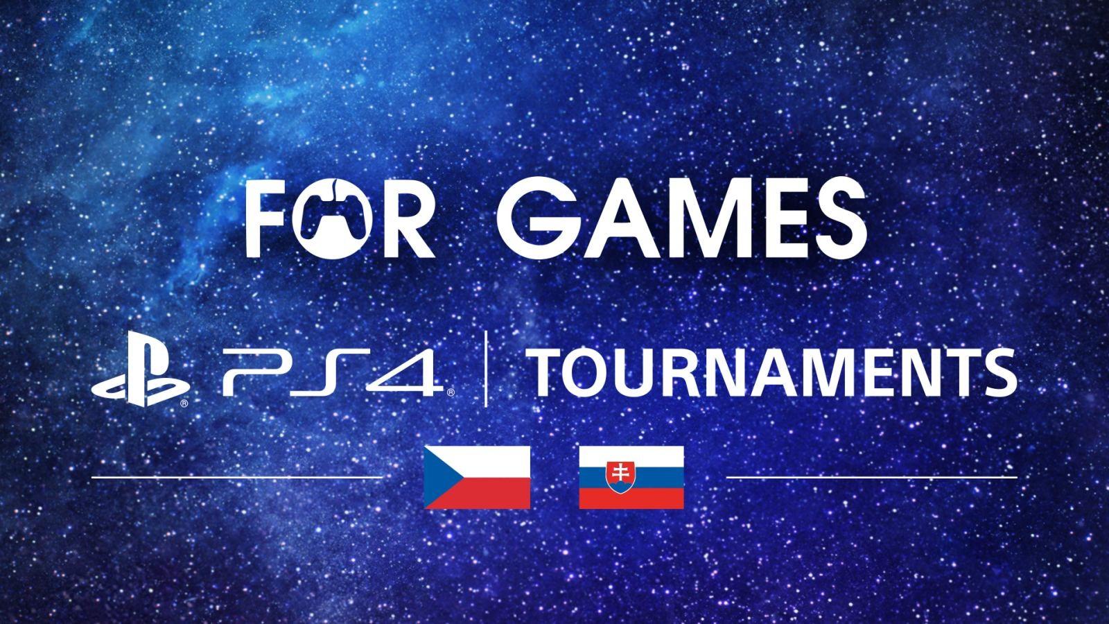 For Games 2019; screenshot: logo, PS4 turnaj