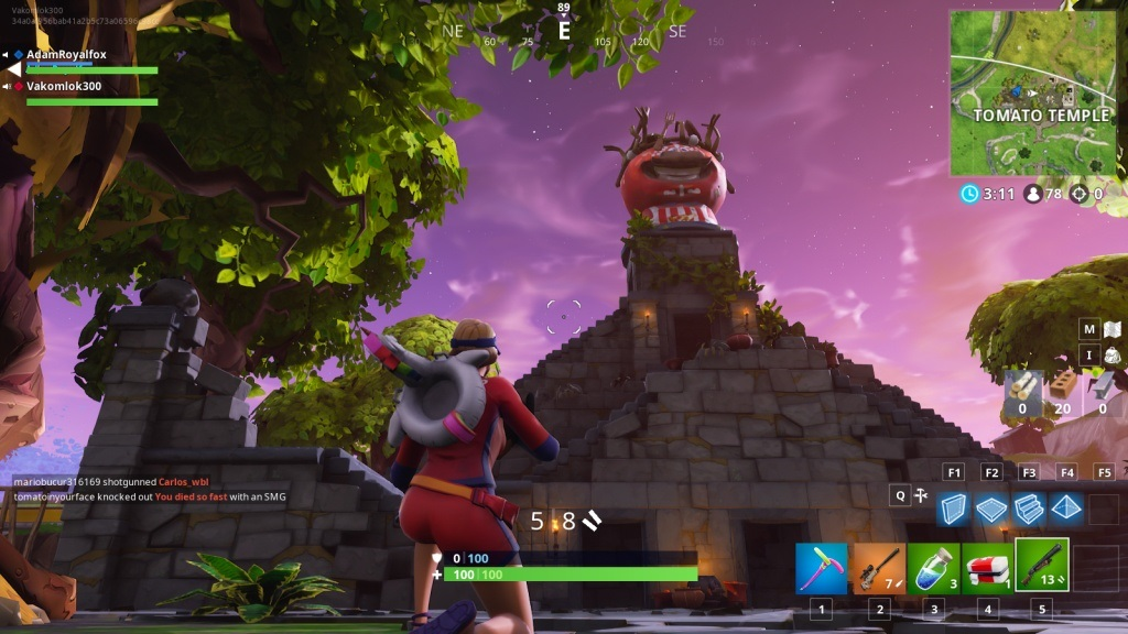 Fortnite; screenshot: chrám