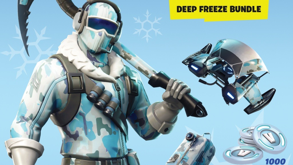 Fortnite; screenshot: Deep Freeze Bundle