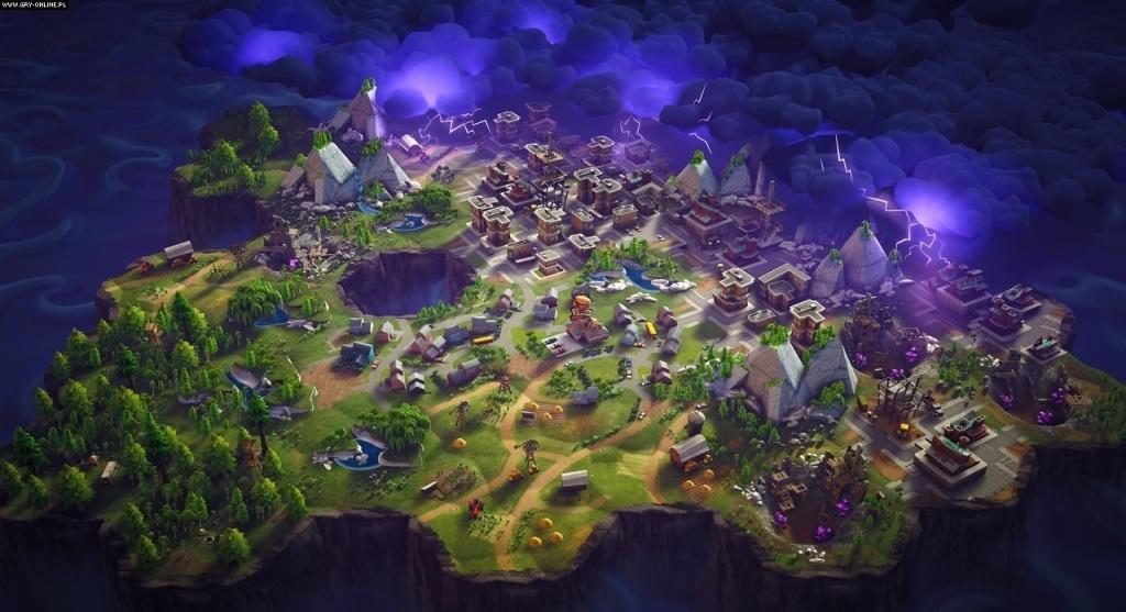 Fortnite; Wallpaper: mapa, bouře, město