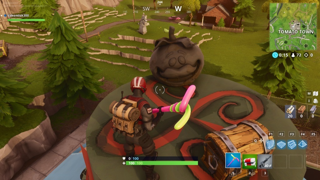 Fortnite; screenshot: Tomato head