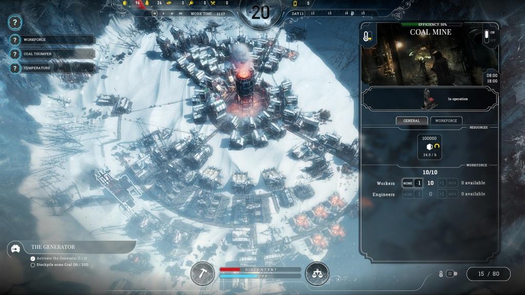 Frostpunk; Gameplay: uhelný důl