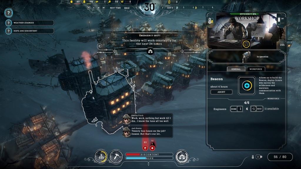 Frostpunk; Gameplay: workshop