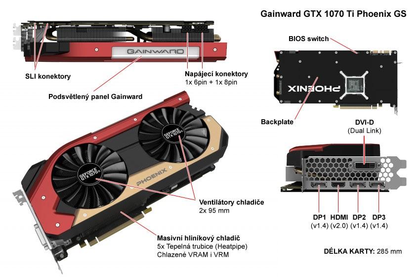 Gainward GTX 1070 Ti Phoenix GS popis