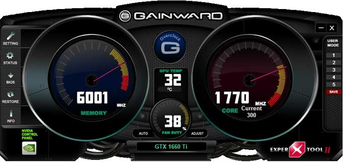 Gainward GTX 1660 Ti Pegasus Expertool