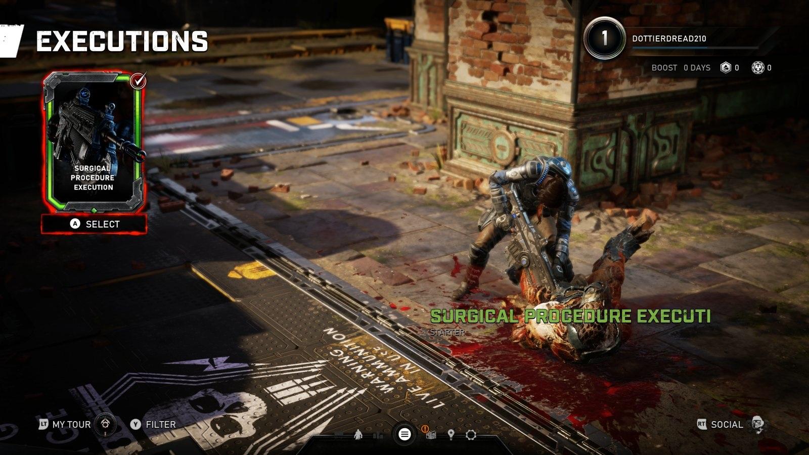 Gears 5; gameplay: exekuce
