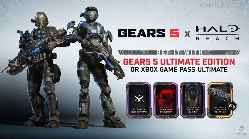 Gears 5; screenshot: Halo Reach Character pack