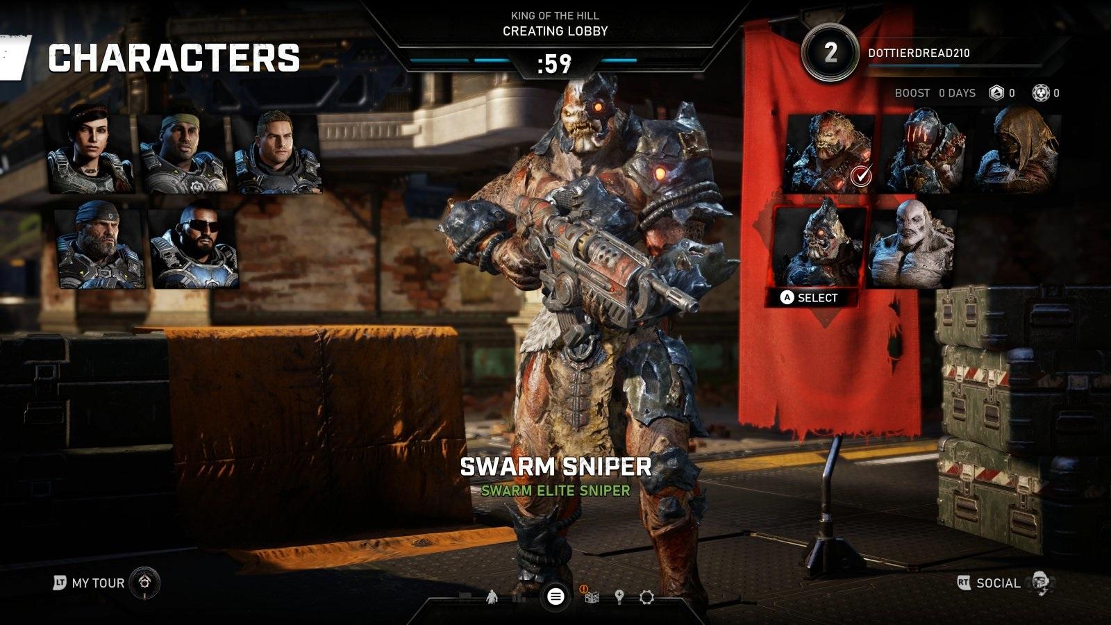 Gears 5; gameplay: swarm sniper