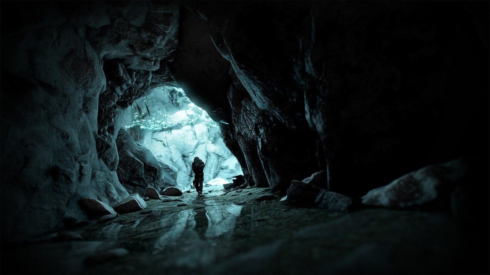 Ghost Recon Breakpoint; wallpaper: jeskyně