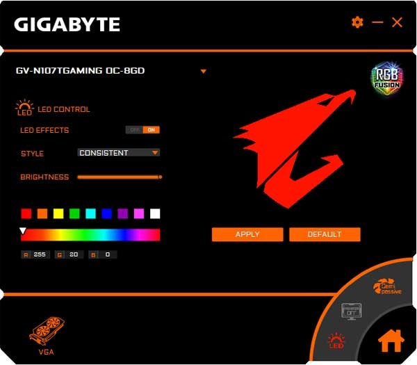 Gigabyte GTX 1070 Ti Gaming OC 8G RGB Fusion