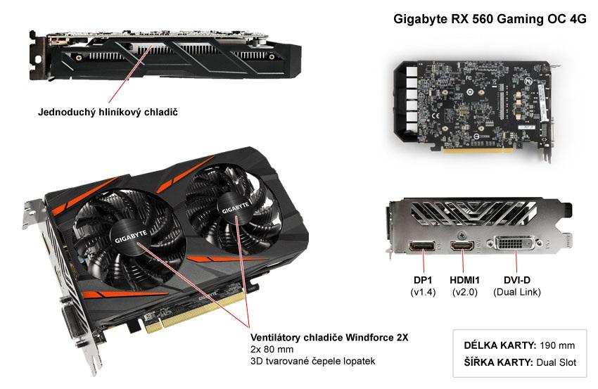 Gigabyte RX 560 Gaming OC 4G popis