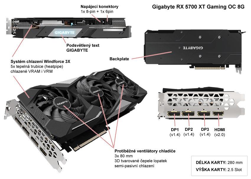 Gigabyte RX 5700 XT Gaming OC; popis