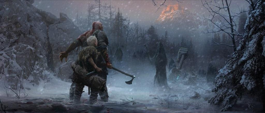 God of War: Artwork; Souboj