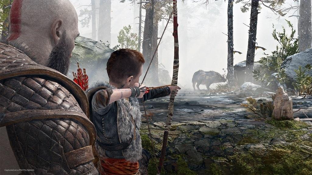 God of War; Atreus a Kratos na lovu