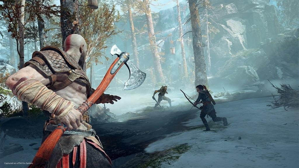 God of War; Kratos a Atreus v bitvě
