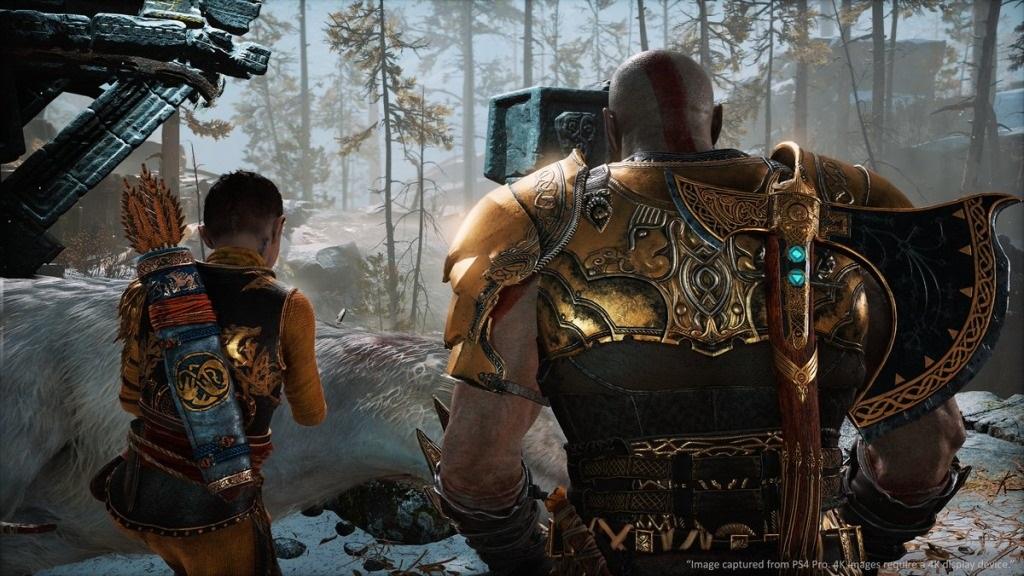God of War; screenshot: Kratos a Atreus