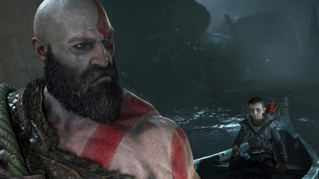 God of War; Kratos, Atreus v lodi