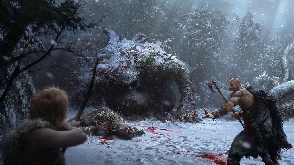 God of War: Artwork; giant