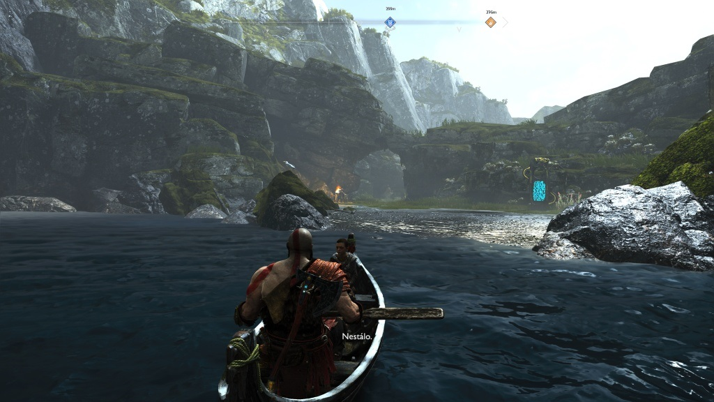 God of War; Gameplay: loďka