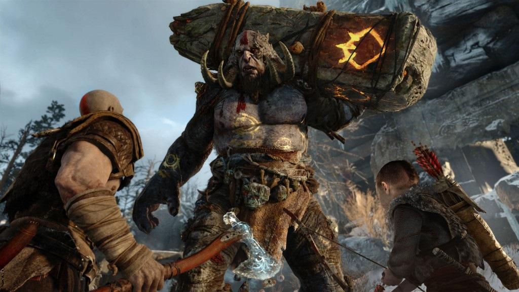 God of War; Wallpaper: obr, Kratos, Atreus
