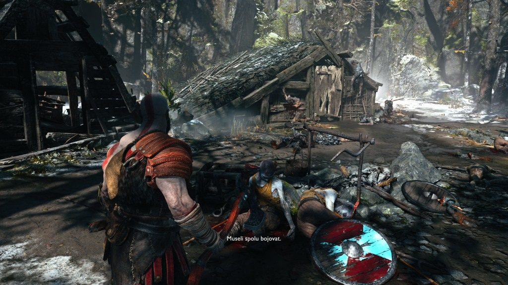 God of War; Gameplay: vesnice