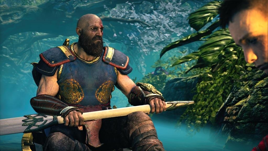 God of War; Gameplay: zamyšlený Kratos