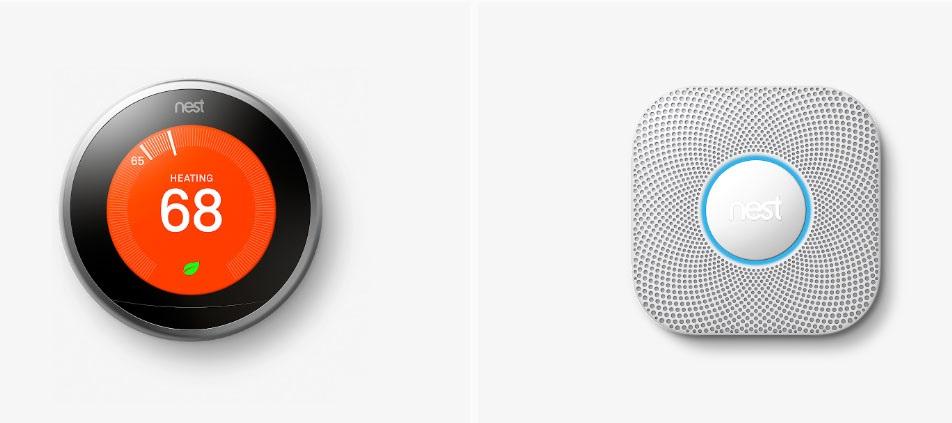 Google Nest, termostat, Detektor kouře a CO