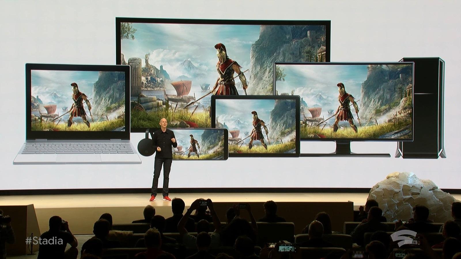 Google Stadia; screenshot: Assassin´s Creed Odyssey