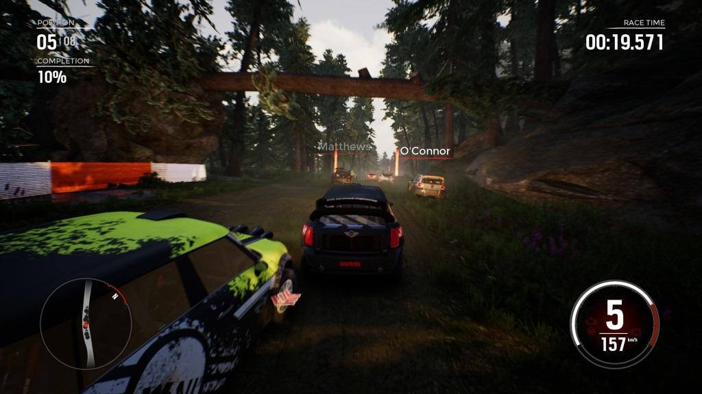 Gravel; Gameplay: lesní závod