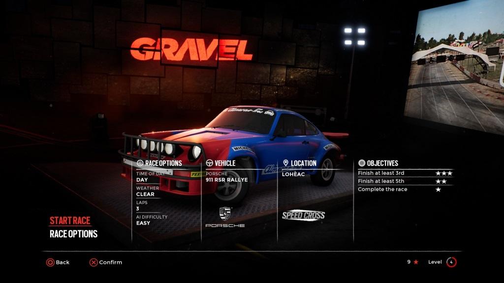 Gravel; Gameplay: Porsche